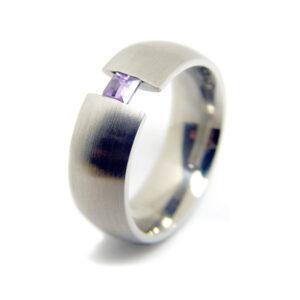 anillo de acero para mujer modelo Emi