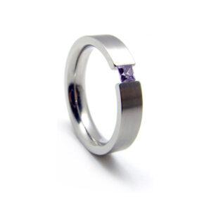 anillo acero mujer modelo Carla
